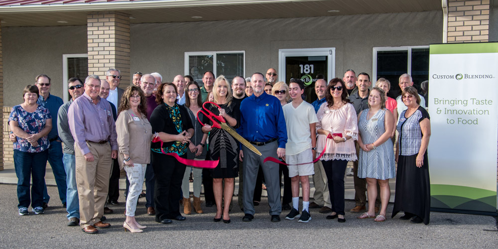 CustomBlend Ribbon Cutting
